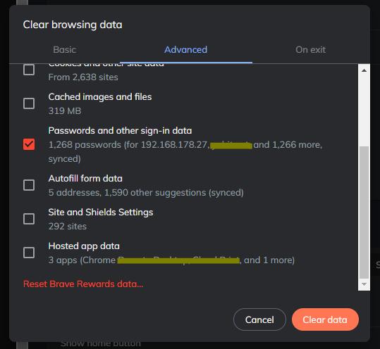 Chrome/Brave: Eliminar todas la contraseñas guardadas a la vez