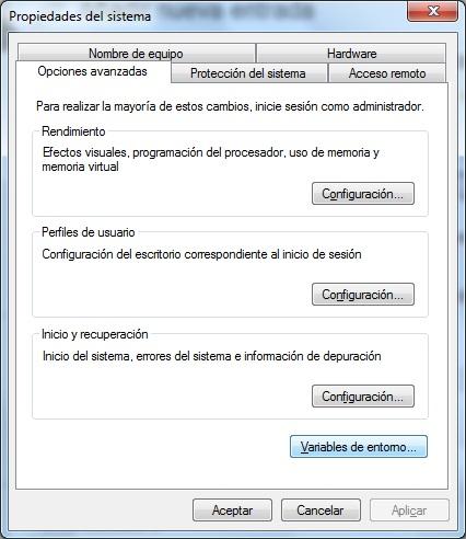 Propiedades del Sistema - Windows