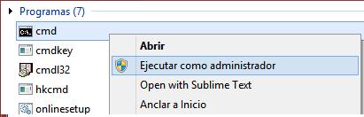 Descarga Windows 10 - Ejecutar CMD como Administrador