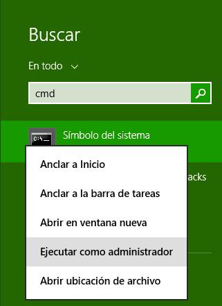 Descarga Windows 10 - Ejecutar CMD como Administrador 2